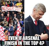 Arsenal finish in the top 4 memes