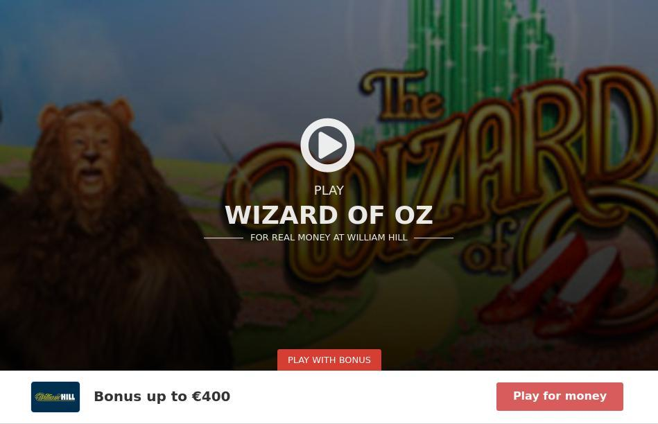 free online slot wizard oz machine