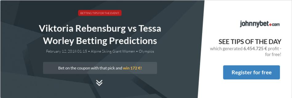 Viktoria Rebensburg vs Tessa Worley Betting Predictions