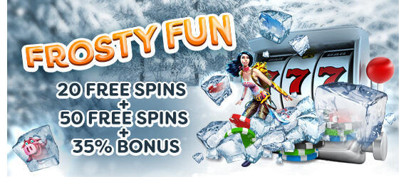 Frosty Fun bonus promotion code Gamblio Casino online free spins