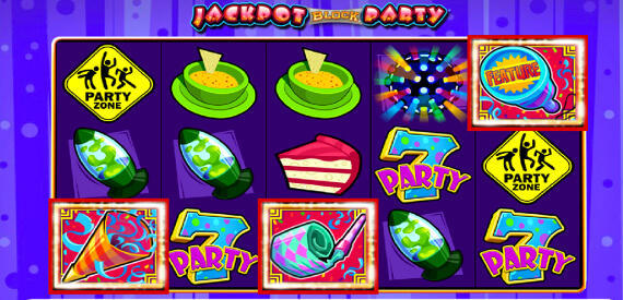 Play Jackpot Block Party slot machine game Video Slots online casino