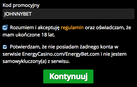 Energy casino bonus kod 2019