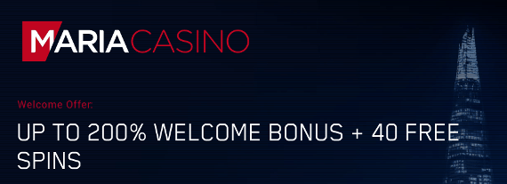 maria casino promo code welcome offer uk