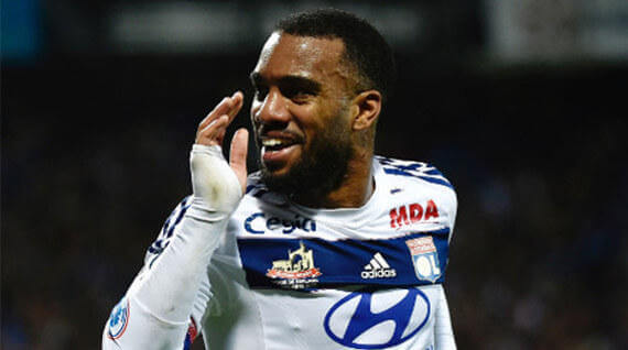 Olympique Lyon betting odds Alexandre Lacazette