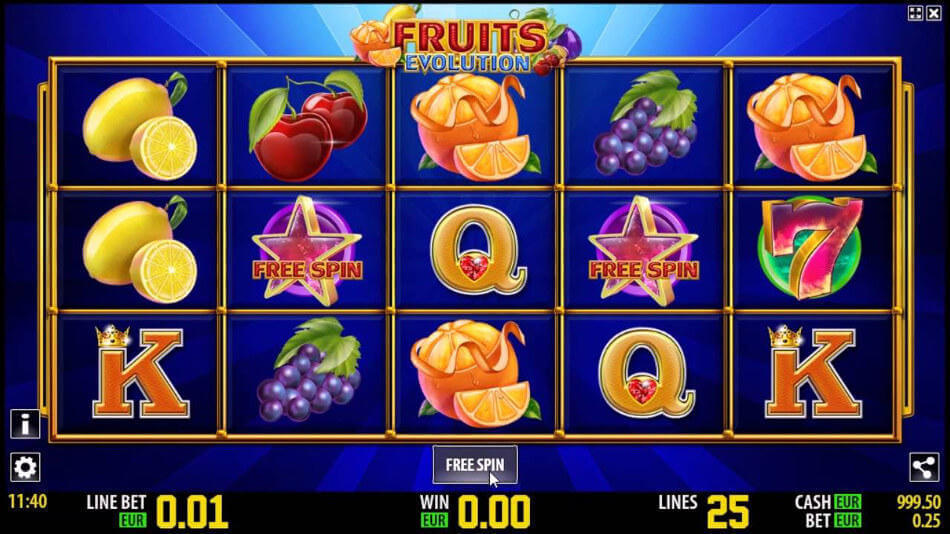 Fruits Evolution Slot Machine Game