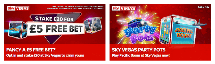 sky bet casino and vegas promotion