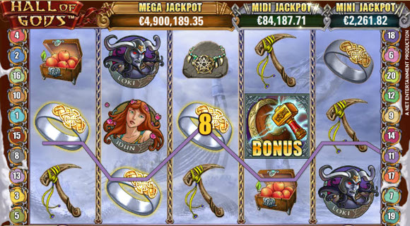 Energy Casino Jackpot Hall of Gods